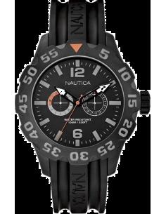 Chic Time | Montre Homme Nautica BFD 100 A17617G Bracelet en résine noire  | Prix : 179,00€