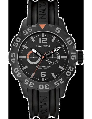 Chic Time   Montre Homme Nautica BFD 100 A17617G Bracelet en résine noire    Prix : 179,00€