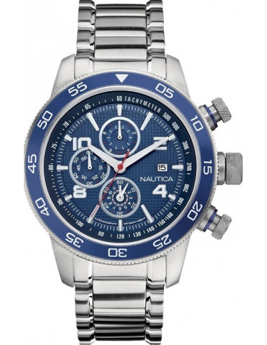 Chic Time | Montre Homme Nautica NCT 402 A24534G Bracelet en acier argenté  | Prix : 186,99€