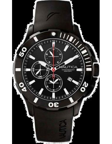 Chic Time   Montre Homme Nautica BFD 101 A19585G Bracelet noir en silicone    Prix : 100,99€