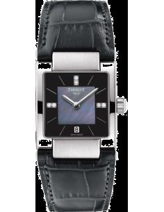 Chic Time | Montre Femme Tissot T02 T0903101612600 Bracelet en cuir croco noir  | Prix : 515,00€