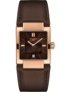 Chic Time | Montre Femme Tissot T02 T0903103738100 Bracelet en cuir marron  | Prix : 339,00€