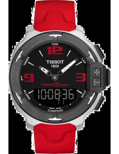 Chic Time   Montre Homme Tissot T-Race Touch Asian Games 2014 T0814201705703 Bracelet en caoutchouc rouge    Prix : 429,00€