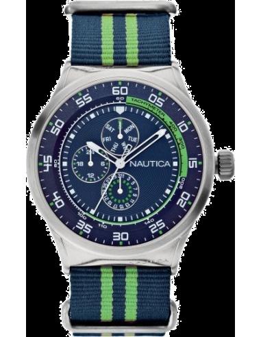 Chic Time | Montre Homme Nautica NST 17 A14666G Bracelet en nylon bicolore  | Prix : 119,00€