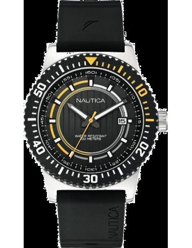 Chic Time | Montre Homme Nautica NST 16 A12638G Bracelet noir en silicone  | Prix : 128,90€