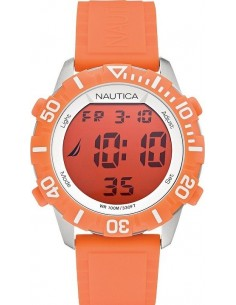 Chic Time | Montre Mixte Nautica NSR 100 A09927G Bracelet en silicone orange  | Prix : 56,99 €