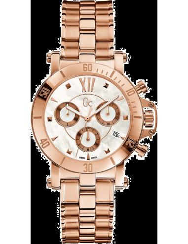 Chic Time | Montre Femme GC Guess Collection Sport Chic X73008M1S Bracelet en acier de couleur or rose  | Prix : 411,75€