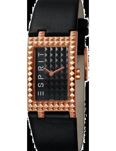 Chic Time | Montre Femme Esprit Houston ES102462005 Bracelet en cuir noir  | Prix : 29,90€