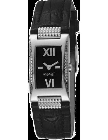 Chic Time | Montre Femme Esprit Juliet ES102702003 Bracelet en cuir noir  | Prix : 38,90€