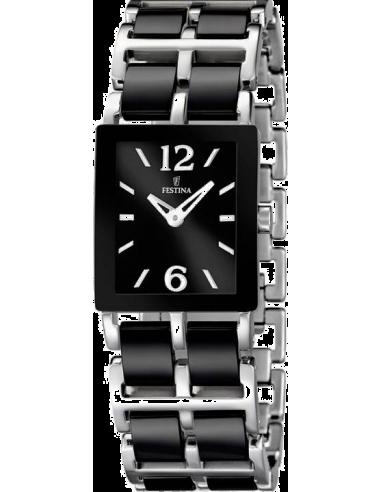 Chic Time | Montre Femme Festina Ceramic F16625/3 Bracelet en acier et maillons en céramique noire  | Prix : 129,00€