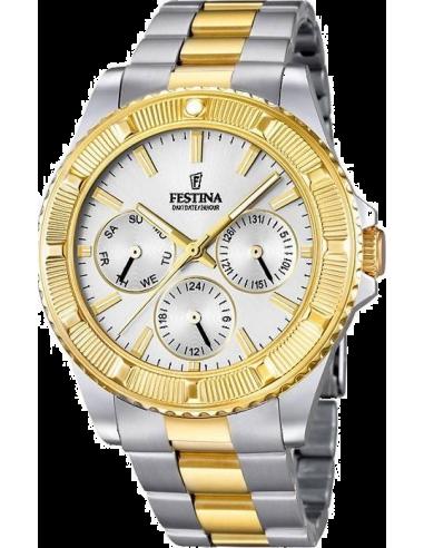 Chic Time | Montre Femme Festina Boyfriend F16691/1 Multifonction Bracelet bicolore  | Prix : 37,25€