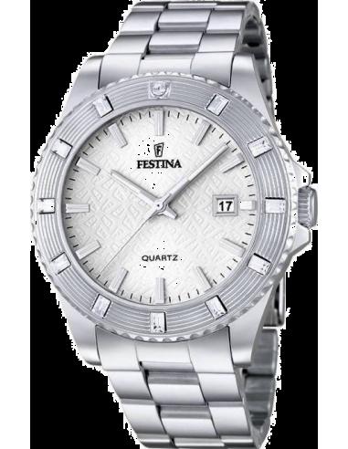 Chic Time | Montre Femme Festina Boyfriend F16689/1 Lunette ornée de pierres zircon  | Prix : 99,00€