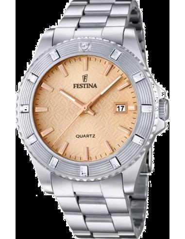 Chic Time   Montre Femme Festina Boyfriend F16689/2 Cadran de couleur or rose    Prix : 24,75€