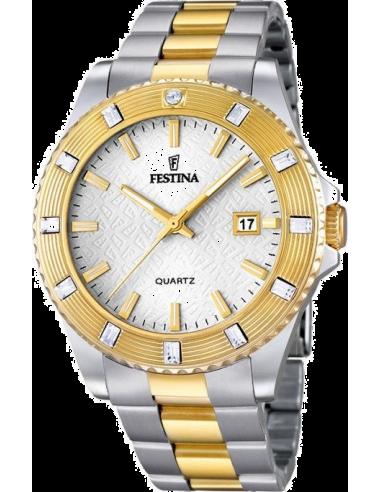 Chic Time | Montre Femme Festina Boyfriend F16688/1 Bracelet en acier bicolore  | Prix : 129,00€