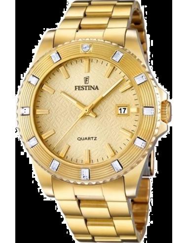 Chic Time   Montre Femme Festina Boyfriend F16686/2 Bracelet et cadran dorés    Prix : 32,25€