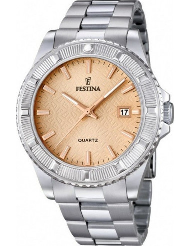 Chic Time | Montre Femme Festina Boyfriend F16684/2 Bracelet argenté en acier  | Prix : 49,50€