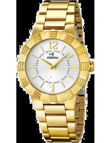 Chic Time | Montre Femme Festina Mademoiselle F16732/1 Boîtier et bracelet en acier doré  | Prix : 32,25€