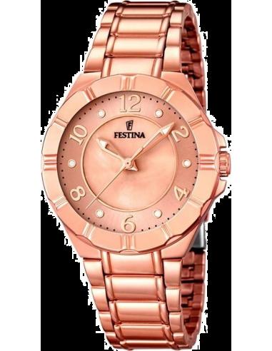 Chic Time | Montre Femme Festina Mademoiselle F16728/1 Bracelet et cadran de couleur or rose  | Prix : 32,25€