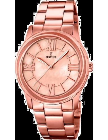 Chic Time   Montre Femme Festina Mademoiselle F16725/2 Bracelet et cadran de couleur or rose    Prix : 29,75€