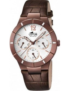 Chic Time | Montre Femme Lotus Trendy L15918/1 Bracelet en cuir croco marron  | Prix : 119,00 €