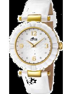 Chic Time | Montre Femme Lotus Trendy L15912/5 Bracelet blanc en cuir  | Prix : 99,00€