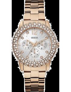 Chic Time | Montre Femme Guess Dazzler W0335L3 Bracelet en acier de couleur or rose  | Prix : 261,75€