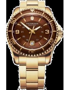 Chic Time   Montre Victorinox Swiss Army Maverick 241607 Bracelet en acier doré    Prix : 495,00€