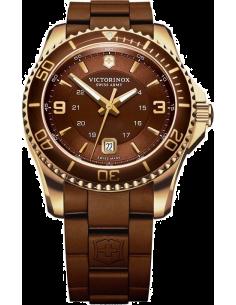 Chic Time | Montre Homme Victorinox Swiss Army Maverick 241608 Bracelet marron en caoutchouc  | Prix : 425,00€