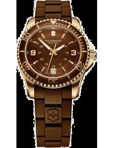 Chic Time | Montre Femme Victorinox Swiss Army Maverick 241615 Bracelet marron en caoutchouc  | Prix : 899,90€