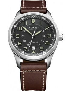 Chic Time | Montre Homme Victorinox Swiss Army AirBoss Mechanical 241507 Bracelet marron en cuir  | Prix : 795,00 €