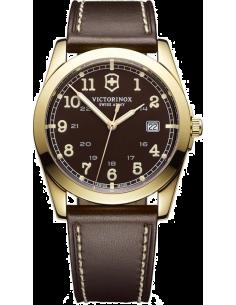 Chic Time | Montre Homme Victorinox Swiss Army Infantry 241645 Boîtier doré et bracelet marron  | Prix : 379,90€