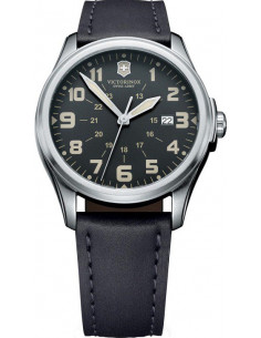 Chic Time | Montre Homme Victorinox Swiss Army Infantry Vintage 241580 Bracelet noir en cuir  | Prix : 369,00€