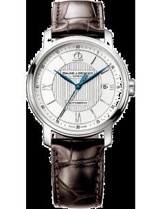 Chic Time | Montre Homme Baume & Mercier Classima 8791 Bracelet en cuir croco marron  | Prix : 1,237.50