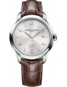 Chic Time | Montre Homme Baume & Mercier Clifton 10054 Bracelet en cuir croco marron  | Prix : 1,291.95