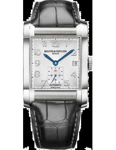 Chic Time | Montre Homme Baume & Mercier Hampton 10026 Bracelet en cuir croco noir  | Prix : 1,650.00