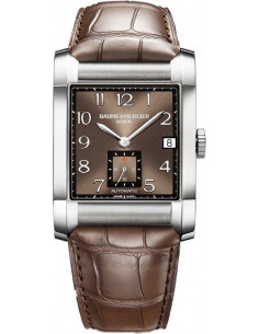Chic Time | Montre Homme Baume & Mercier Hampton 10028 Bracelet en cuir croco marron  | Prix : 1,650.00