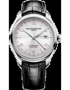 Chic Time | Montre Homme Baume & Mercier Clifton 10112 Bracelet en cuir croco noir  | Prix : 1,644.50