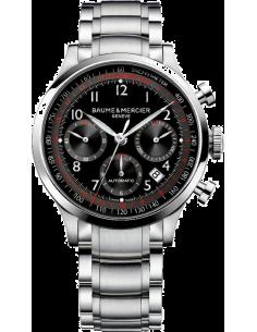 Chic Time | Montre Homme Baume & Mercier Capeland 10062 Cadran noir multifonction  | Prix : 2,090.00