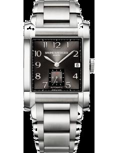 Chic Time | Montre Homme Baume & Mercier Hampton 10048 Bracelet argenté et cadran noir  | Prix : 1,732.50