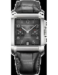 Chic Time | Montre Homme Baume & Mercier Hampton 10030 Bracelet et cadran noirs  | Prix : 2,365.00