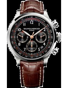 Chic Time | Montre Homme Baume & Mercier Capeland 10067 Bracelet marron en cuir  | Prix : 2,090.00