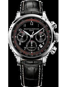 Chic Time | Montre Homme Baume & Mercier Capeland 10084 Bracelet noir en cuir croco  | Prix : 2,090.00