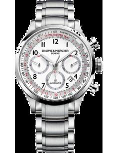 Chic Time | Montre Homme Baume & Mercier Capeland 10061 Bracelet en acier argenté  | Prix : 2,090.00
