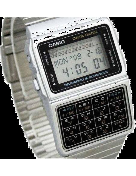 Chic Time | Montre Homme Casio Data Bank DBC-610A-1AZD Argent  | Prix : 89,10€