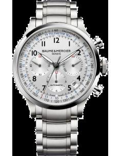 Chic Time | Montre Homme Baume & Mercier Capeland 10064 Bracelet et cadran argentés  | Prix : 2,090.00
