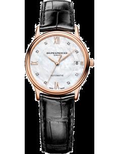 Chic Time   Montre Homme Baume & Mercier Classima Executives 10077 Bracelet en cuir croco noir    Prix : 2,612.50