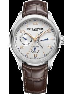 Chic Time | Montre Homme Baume & Mercier Clifton 10149 Bracelet en cuir croco marron  | Prix : 2,579.50