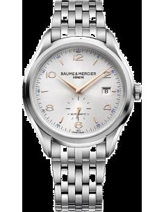 Chic Time | Montre Homme Baume & Mercier Clifton 10141 Bracelet argenté en acier  | Prix : 1,512.50