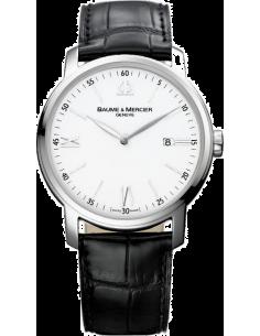 Chic Time | Montre Homme Baume & Mercier Classima Executives 10097 Cadran blanc  | Prix : 726,00€