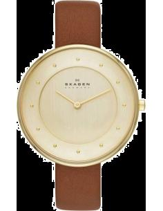 Chic Time | Montre Femme Skagen Gitte SKW2138 Bracelet en cuir marron  | Prix : 149,00€